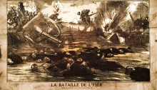 The Battle of the Yser. Admirable resistance of Belgian soldiers
