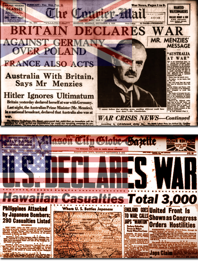 Newspaper War Declared   Bill Wolfe   Remembrance Day