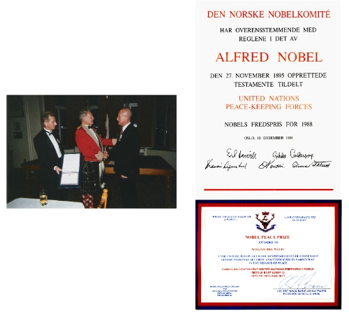 Nobel Peace Prize Diploma | Bill Wolfe | Remembrance Day